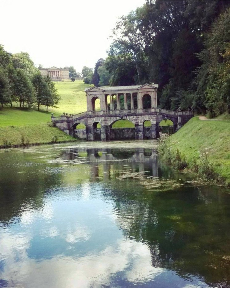 The Palladian Bridge at Prior Park in Bath, one of the city's hidden gems