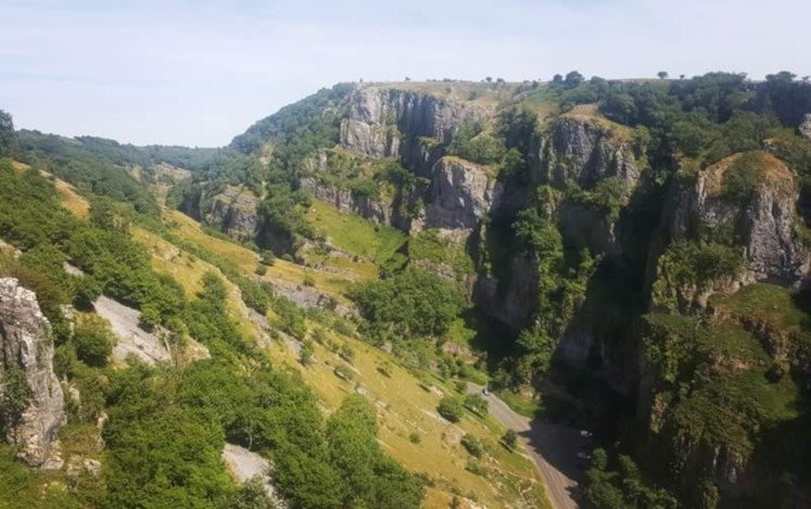 Cheddar Gorge and its spectacular cliffs