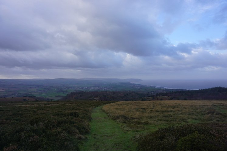 Views of Quantock Hills and Bristol Channel from Staple Plain