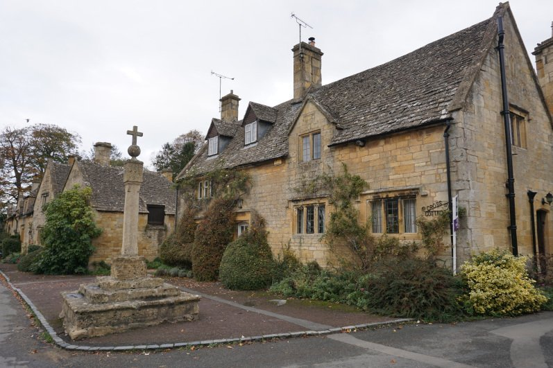 Village square in Stanton in North Cotswolds
