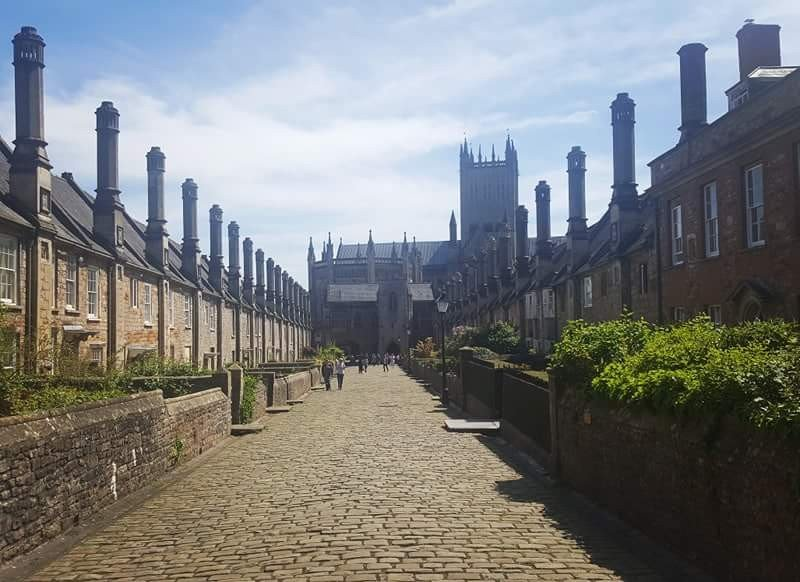 View of Wells Cathedral from Vicar's Close