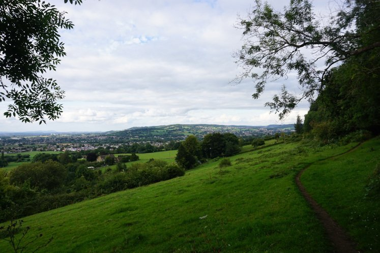 View of the Cotswold valley along the Cotswold Way