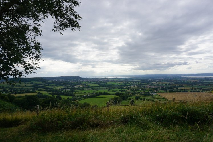Breathtaking views of the Cotswold hills and Severn Valley from Coaley Peak