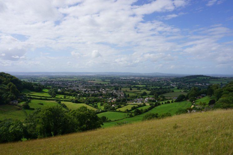 Stunning views of the Cotwolds, Severn Vale and Wales from Selsley Common