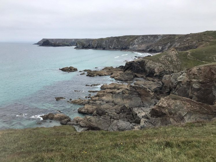 The rugged cliffs of the Lizard Peninsula in Cornwall