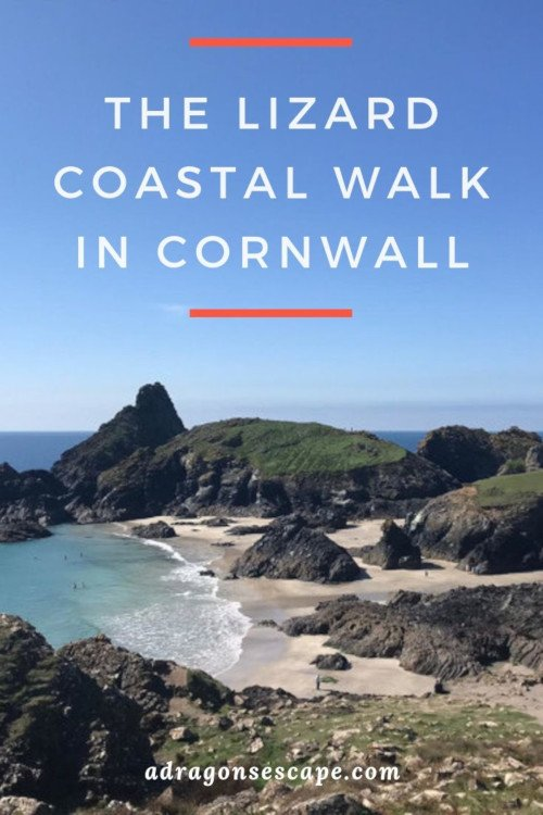 The Lizard coastal walk in Cornwall pin