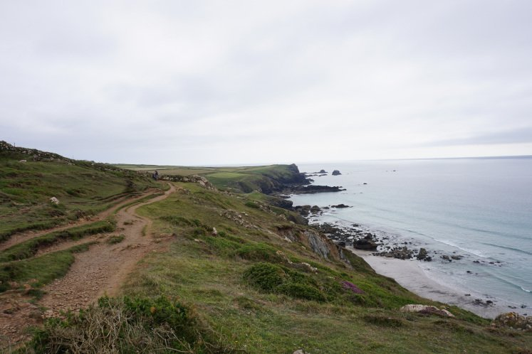 South West Coastal Path on Lizard Peninsula in Cornwall