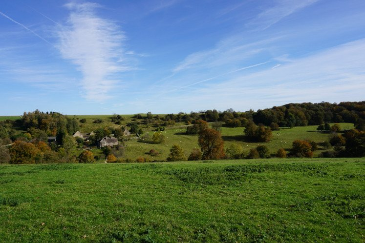 The Lasborough Park and the Lasborough Farm in the Cotswolds