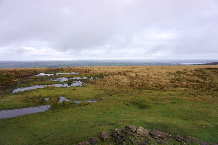 View of Blagdon Lake and the Somerset Hills from Beacon Batch