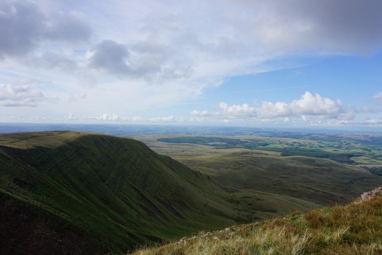 Views of the Brecon Beacons on the Llyn y Fan Fach hike
